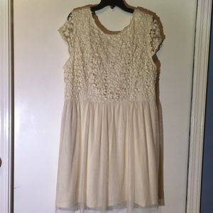 Crochet and Tulle Dress